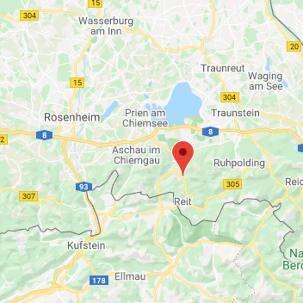 Anfahrt, Lage Ferienwohnung Steiner am Wössner See