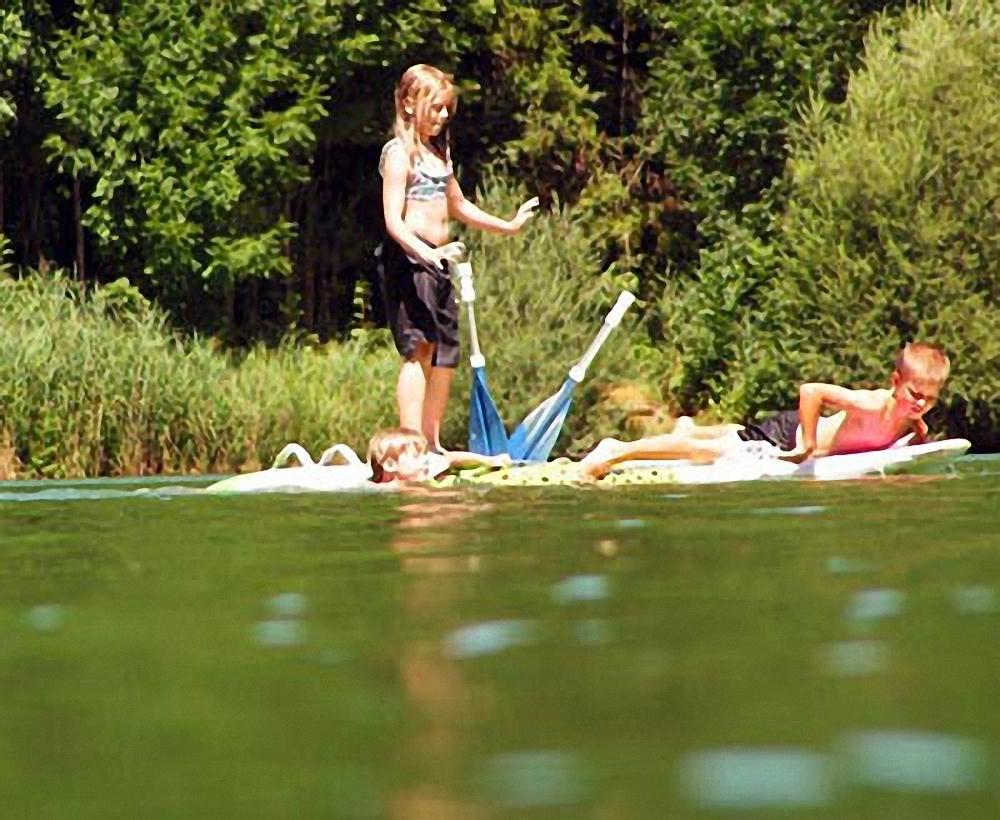 Baden und Schwimmen im Wössner See
