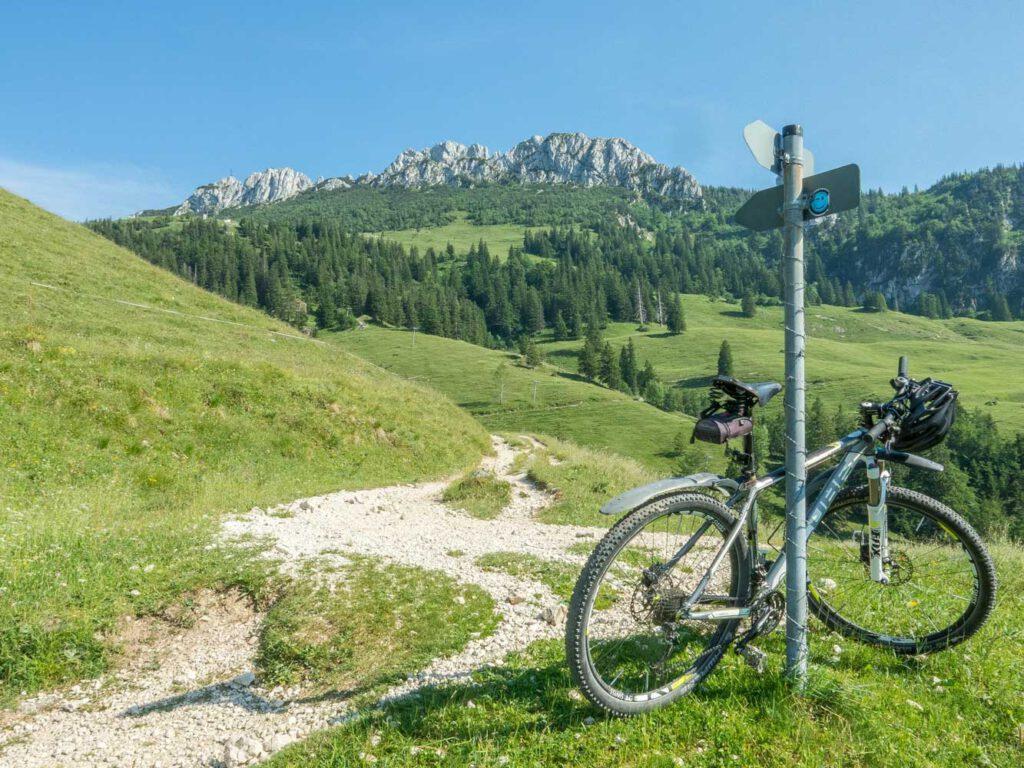 Mountainbike-mit-Kampenwand