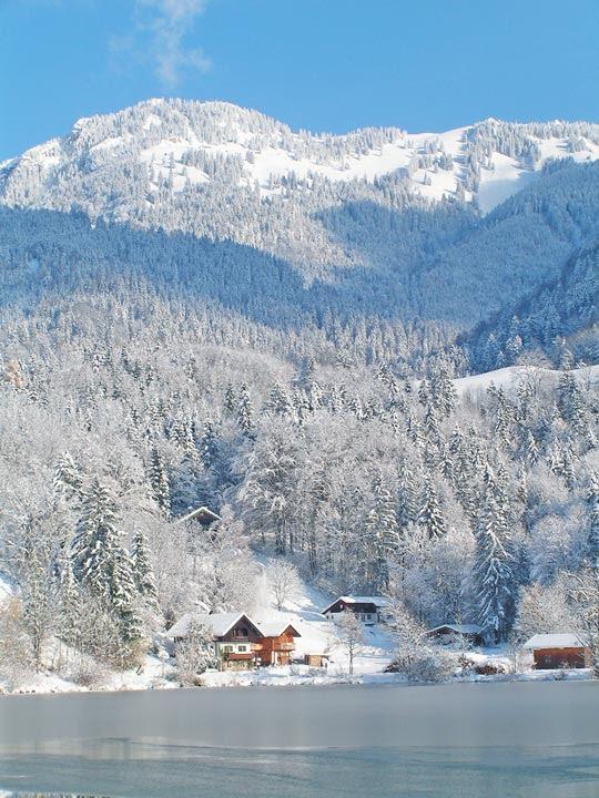Winter am Wössner See in Unterwössen